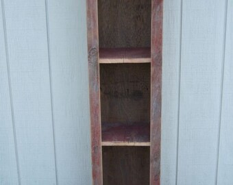 Red Barnwood 3 Shelf Cabinet