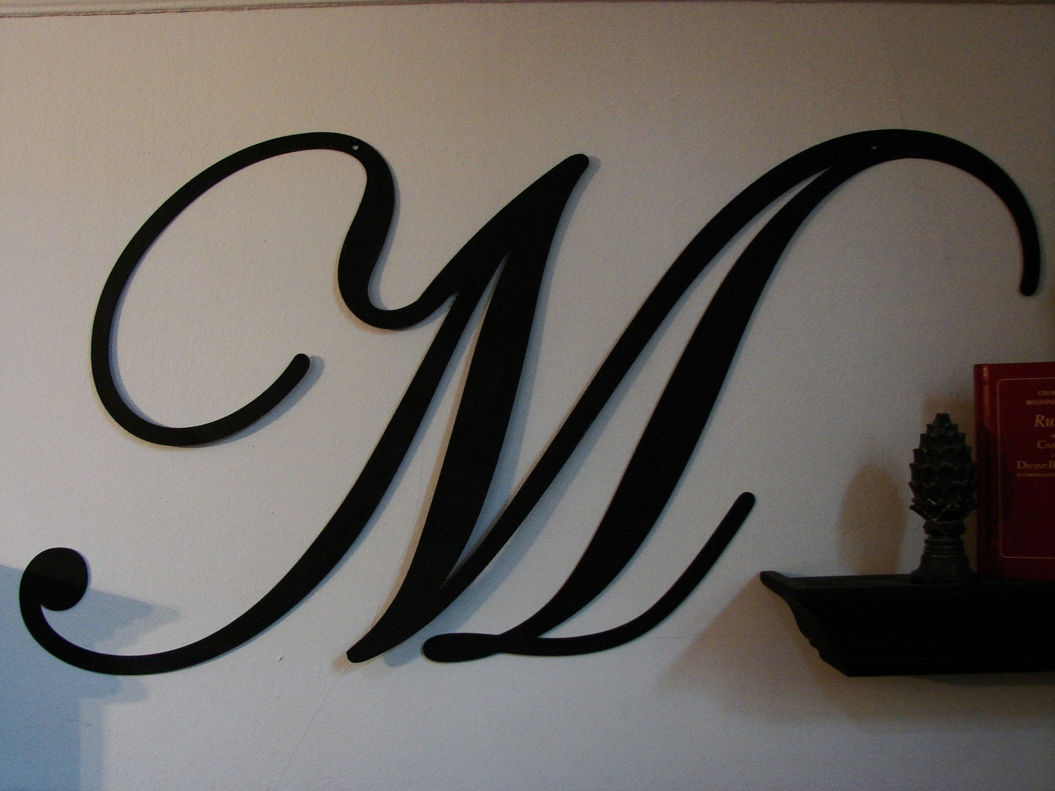 Large Metal Letters Script by TheMonogramMama on Etsy