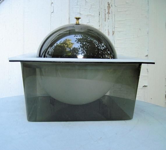 SPACE AGE, Mid-Century Plastic Lucite Ice Bucket / Food Cooler -vintage 1960s