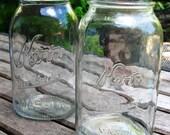 Lot of (2) Vintage KERR Mason Jars QUART SIZE
