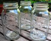 Lot of (3) Vintage BALL Mason Jars QUART SIZE
