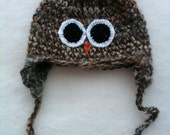 Owl Hat - Adult Size - READY TO SHIP