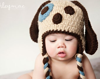 Crochet Pattern, Puppy Dog Hat
