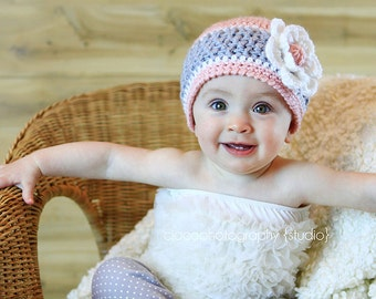 Hard Candy Beanie Crochet Pattern, Baby, Child and Adult sizes included