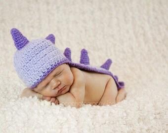 Crochet Pattern, Dinosaur Hat, Dragon Hat Pattern - Instant Download