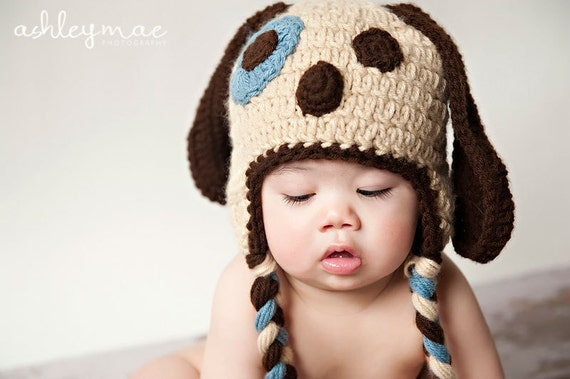 Crochet Pattern, Puppy Dog Hat