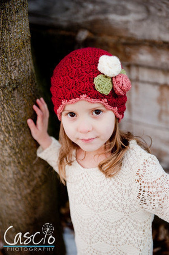 Shelly Hat Crochet Pattern, Baby, Child and Adult sizes included - Instant Download Crochet Pattern