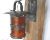 Wrought Iron Sconce - Hanging Lantern Style