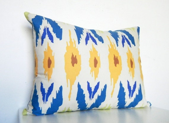 Holiday sale 10 off blue ikat pillow long by citygirlsdecor for 12x16 bedroom