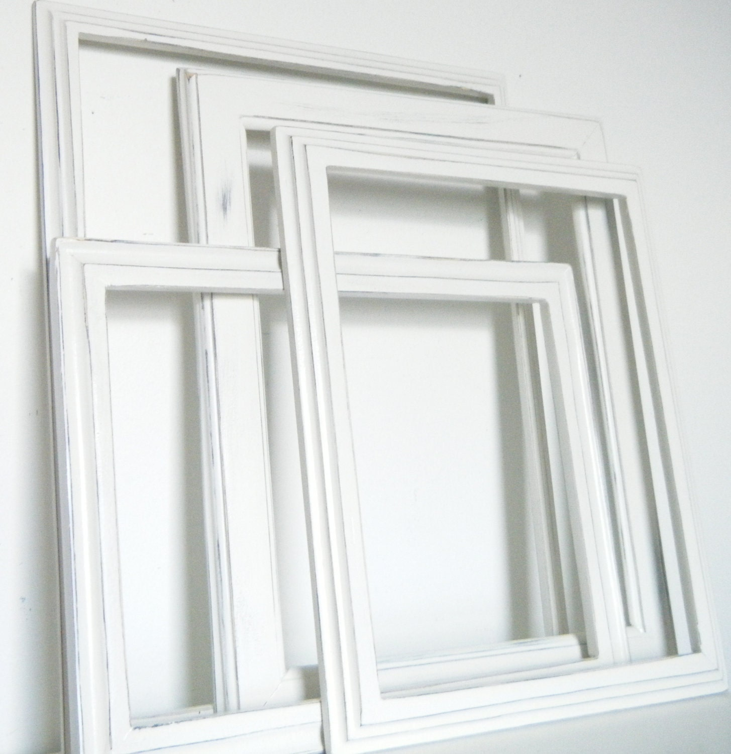 Rustic distressed picture frames white wood picture frames - White wooden picture frames ...