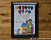 """Customized Pixar """"UP"""" House for 8x10 frames"""