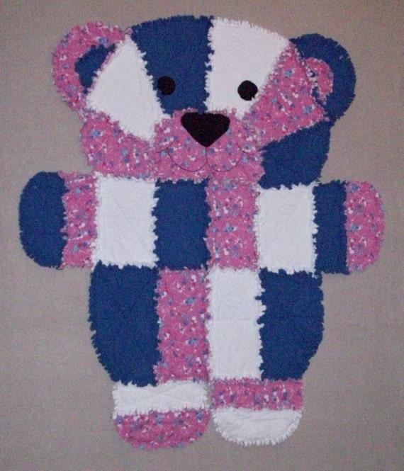 Items similar to Teddy Bear Rag Quilt on Etsy