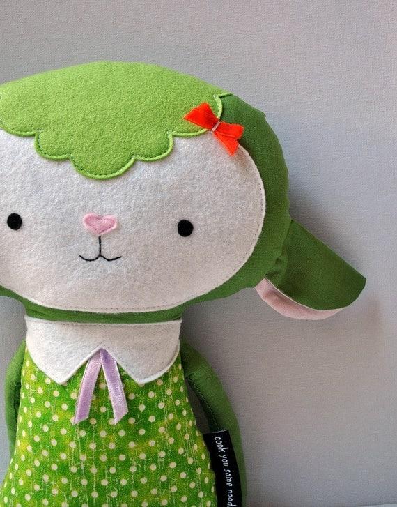 My Little Green Lamb Softie