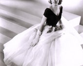 1950s Style Black/Wht Grace Kelly Rear Window Inspired Full Skirt Evening Wedding Dress CUSTOM