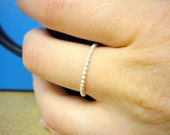 Sterling silver ring Sterling silver stacking rings beaded stackable ring skinny ring silver ball chain ring