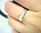 Sterling silver ring silver nugget thick silver ring chunky silver ring minimal jewelry stackable ring Etsy jewelry