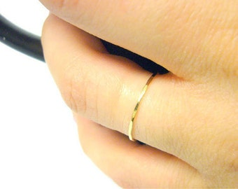 14k gold ring yellow gold ring 14k gold stacking ring thin gold band gold stackable ring thin gold ring skinny