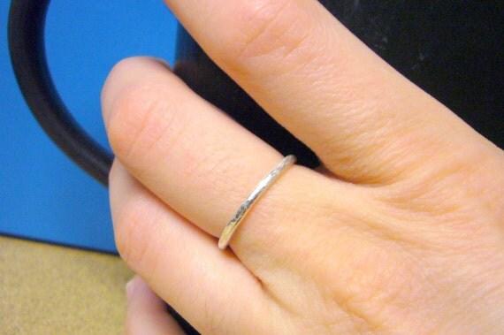 Handmade silver ring Sterling silver ring sterling silver stacking ring spring fashion stackable ring