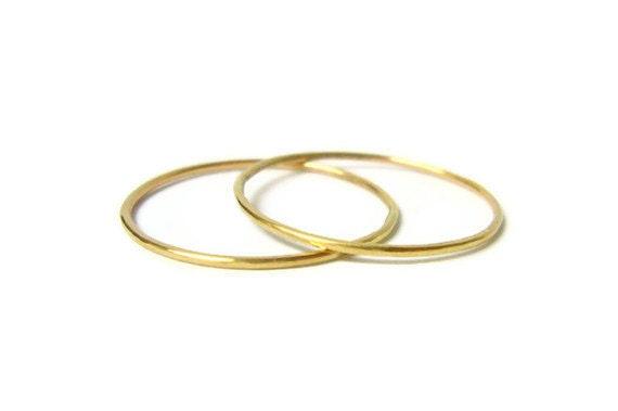 14k gold stacking rings set 14k gold ring yellow gold ring gold stackable rings thin gold ring solid gold rings gold wedding band