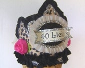 40th Birthday Party Crown/Hat- Adult Birthday - 40 licious or customize