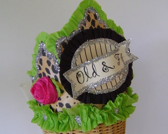 Birthday party Hat, Birthday Party Crown, Over the hill party hat, OLD AND FOXY or customize