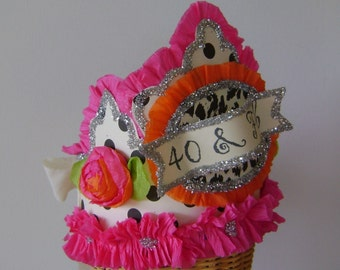 40 and  Fab   40th Birthday Party Crown/Hat