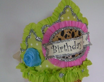 Birthday Party Hat, Birthday Party crown, Adult or Child- customize