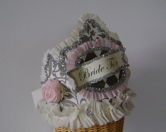 Bride To Be   wedding/bride/bachelorette crown/hat