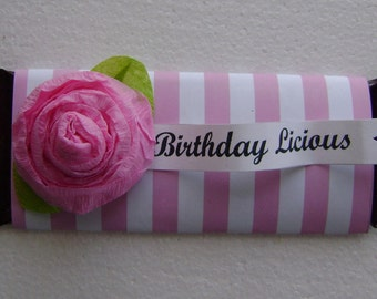 Candy Bar wrapper, candy bar Cover - 1 dozen - customize with any paper or saying