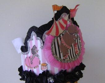 CIRCUS Birthday Party hat, Circus Birthday crown, child birhday hat, adult birthday hat, circus birthday