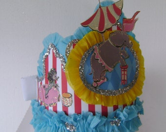 CIRCUS Birthday Party Crown/Hat - adult or child