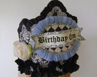 Birthday Party Crown, Birthday Party hat - BIRTHDAY QUEEN or customize -adult or child