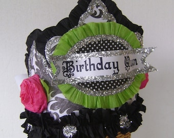Birthday Party  Crown, BIRTHDAY QUEEN, customize with any saying