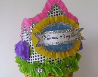 GIRL BIRTHDAY HAT, Girl Birthday Crown,  customize
