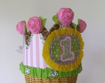 1st Birthday crown, 1st birthday hat, customize with any number, adult or child