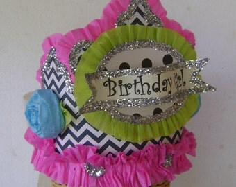 Birthday Party Crown, Birthday Party Hat, Birthday Girl Hat, Customize