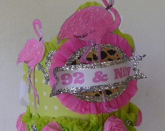 FLAMINGO Birthday Hat, Adult Birthday Hat, Falmingo Birthday Crown, Flamingo Birthday, Customize