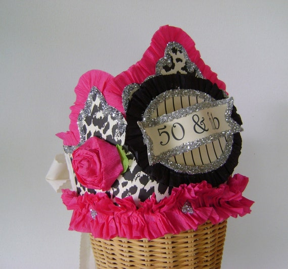 50 And FAB 50th Birthday Party Crown/Hat By Glamhatter