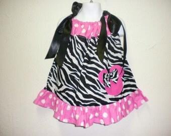 Custom Boutique Safari Minnie Dress 12M 18M 2T 3T 4T 5T