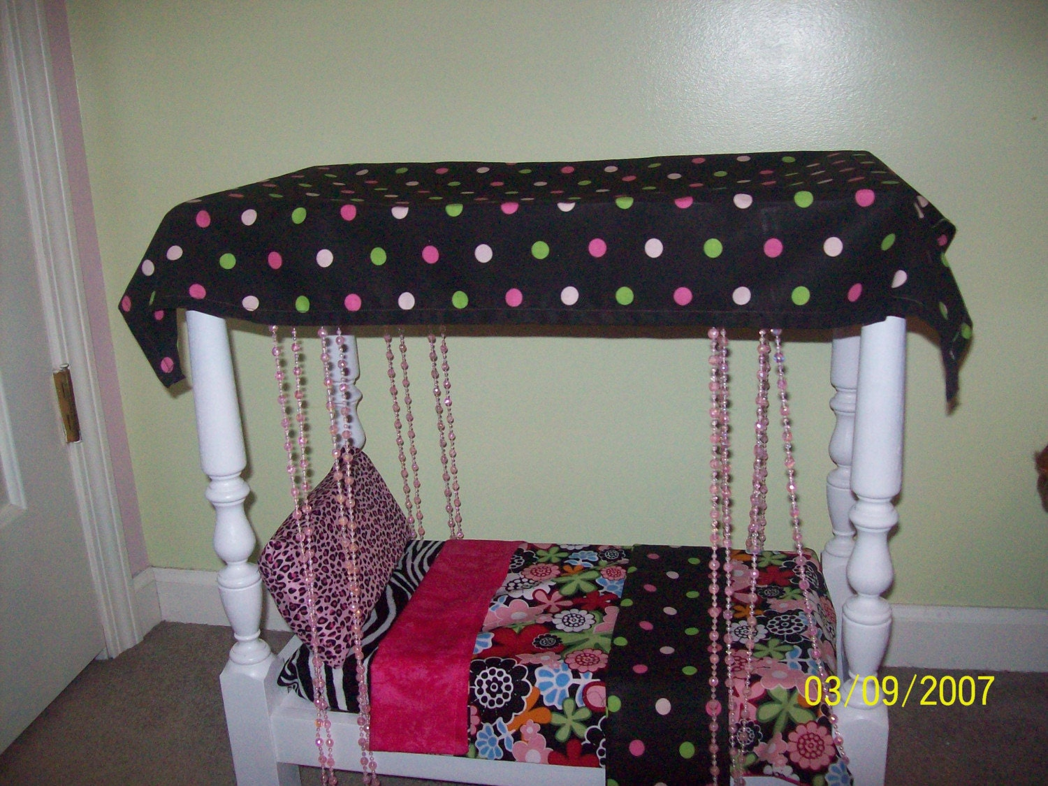 Marvelous photograph of Canopy Doll Bed and Bedding for 18 inch Doll by AbingtonRoad with #78213B color and 1500x1125 pixels