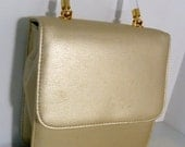 Gold Evening Purse with Lucite Handle