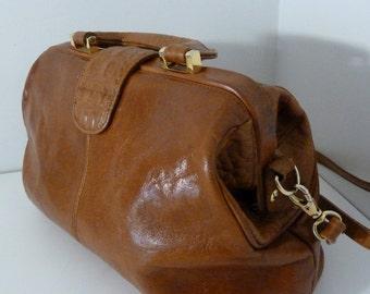 Embossed Leather Bag Portofino Collection