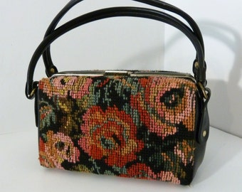 Floral Tapestry  Box Purse