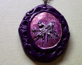 Love Birds Purple Beaded Necklace
