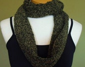 Moss Green Cowl Neck Infinity Scarf