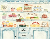 Dream Bakery in Watercolor (Reserved for Laurel)