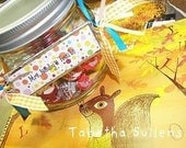 Teacher Gift Candy Treat Jar Tag cupcakes buttons sewing cake cookies sweets lookie