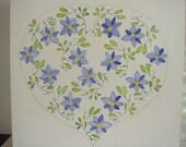 Blue heart -  Nursery art