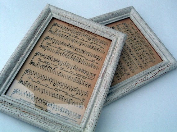 Vintage sheet music framed for Vintage house music