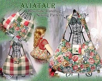 AVIATAUR Reversible Handbag Purse Sewing tutorial rial PDF Download